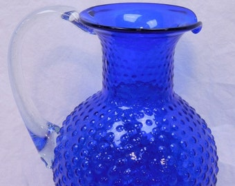 Vintage Fenton Hob Nob Blue Cobalt Tea Pitcher, In Excellent Condition, Perfect Gift , With Reduced Shipping