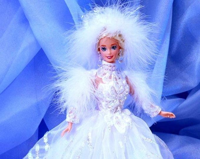 1994 Snow Princess Barbie, Enchanted Seasons timeless specialty Barbie Collectable, In the original unopened box, with reduced shipping