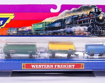 Micro Machines Western Freight Miniature Train, No. 6470, Rare Vintage Set, New in the original box, With reduced shipping