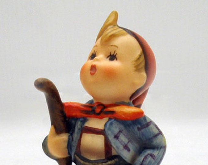 Hummel Boy with a walking stick Figurine, with a full Bee, Mint Condition, With Reduced Shipping