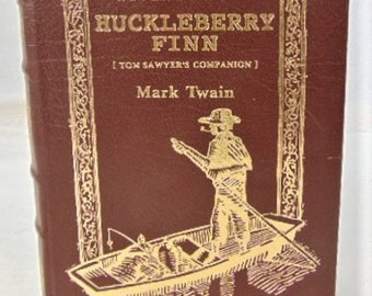 The Adventures of Huckleberry Finn by Mark Twain, Hardcover Book, Trim in Gold, Excellent Condition, Collectable for All, Reduced Shipping