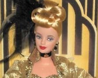 1998 MGM Golden Hollywood Barbie Doll. Limited Edition FAO Schwarz. New In Box.
