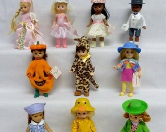 Madam Alexander Minature Dolls,  Happy Meals Toys from the 90's, Three of the original set, New in package, With Reduced Shipping