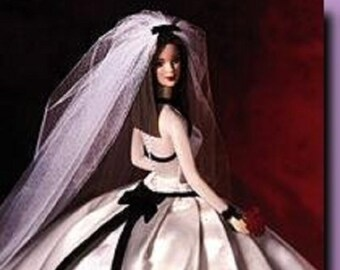 Vera Wang Bride Rare Collector Barbie in the original box with Certificate of Authority, Designer Barbie in her Vera Wang Wedding Dress