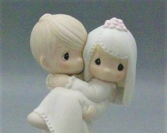 "Wedding Gift, Precious Moments Figurine, ""Bless You Two"" Retired , in the original Box, In excellent condition , With reduced shipping"