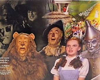 Vintage Wizard of Oz Figures Loews Ren * Turner 1987, Six Piece Set, Dorothy, Scarecrow, Tin Man, Lyon, Glenda and Wicked Witch, Like New