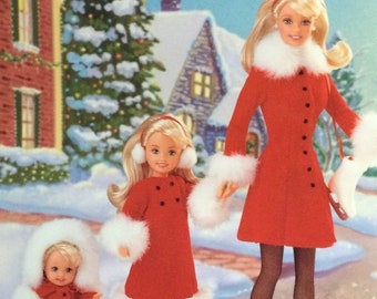 Barbie The Holiday Sisters Gift Set, New in original unopened box, From 1998, Barbie, Stacy & Kelly all dressed in their Red and White Suits