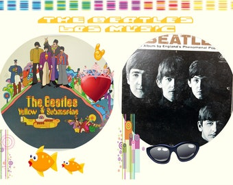 Vintage collectables Beatles Vinyl Albums , Set included are Meet the Beatles and Yellow Submarine, Both are used, These are Collectables