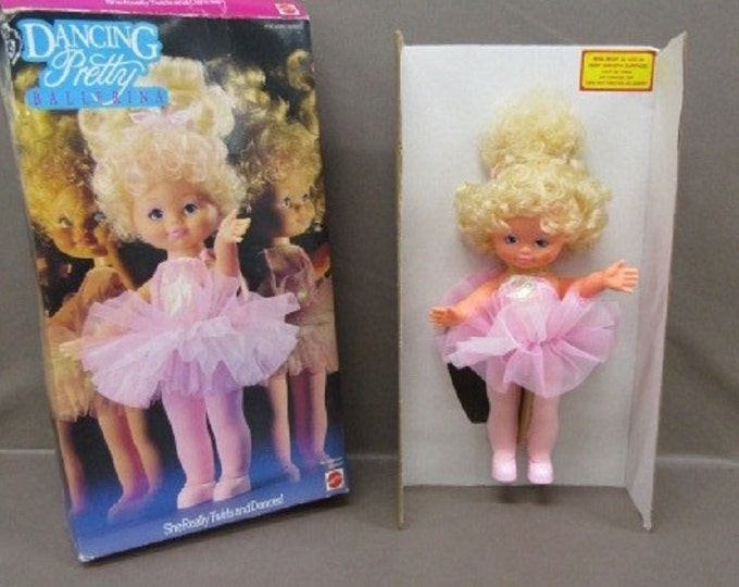 Dancing Pretty Ballerina Doll by Mattel from 1990, In the original box,  Vintage Collectable Doll for Doll Collector