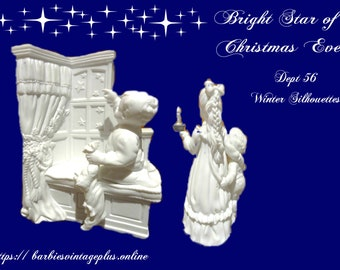 RARE Dept 56 Winter Silhouette Figurines, A Bright Star of Christmas Eve,  Great Gift Idea, Reduced Shipping