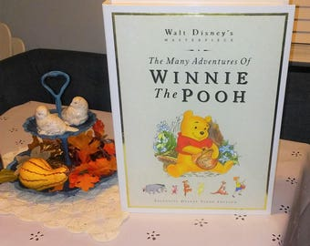 Winnie the Pooh Collector Edition , RARE Vintage  Large  Boxed Set with VHS Movie and Two Books ,  in MINT  Condition , Reduced Shipping