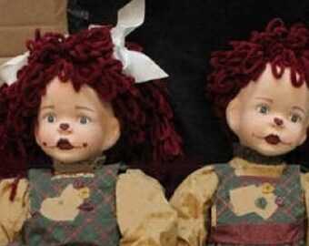 Heartland Tawny Nix Jack and Jill Vintage Porcelin Dolls in Excellent Condition