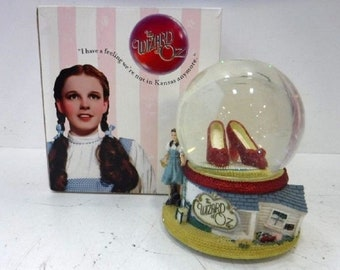 1996 The Red Slippers Snowglobe, In original Box, Disney Exclusive Wizard of Oz Snowglobe, In Excellent Condition, Free Shipping
