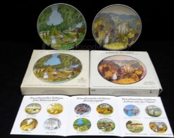 Vintage Hindrich Collectable Plates in original boxes, Great Gift for any Collector, In Excellent Condition, With Reduced Shipping