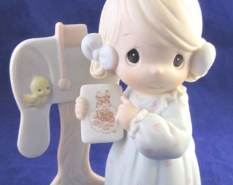Precious Moments Sharing the Good News Figurine in the Original Box, No. C011, Retired Figurine, In Mint condition, with Reduced Shipping
