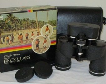 Sears binoculars with case , lens covers & box, Vintage from the 70's in Excellent Condition