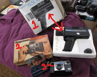 Cameras- Two Vintage Cameras in the original boxes-  W/ Reduced shipping, Fathers Day Special