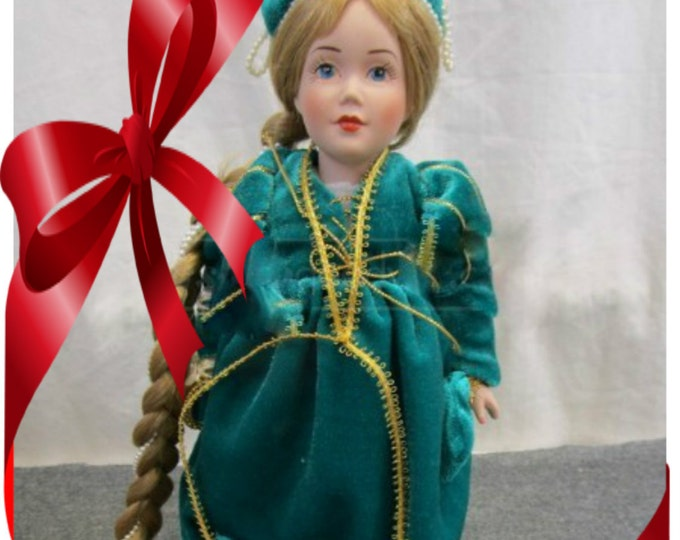 Price Reduced- Danbury Mint Repunzel with Certificate of Authority Porcelain Doll , w/ Reduced shipping