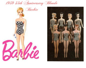 Barbies TOYS- 35th Anniversary Barbie Reproduction Collectable Barbie New in Original Box