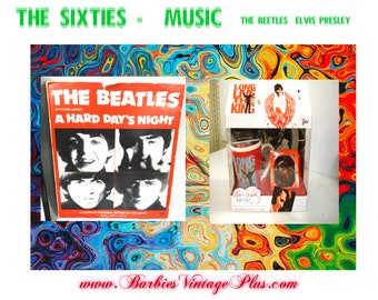 Music Vintage Collectables, The Beetles & Elvis , 2 items included, With Free Shipping in US