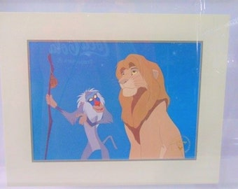 Lyon King Lithograph, Offical Disney Lyon King Lithograph in Frame from 1995, With Free Shipping