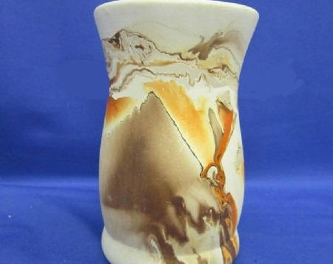 Nemadji Pottery Vase - Original Vintage - in Excellent Condition 6' Height- Very Beautiful Marigold colors, With Reduced Shipping