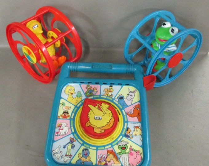 Sesame Street Pre-School Vintage Toys, Three Toys, In Excellent Working Condition, W/ Reduced Shipping
