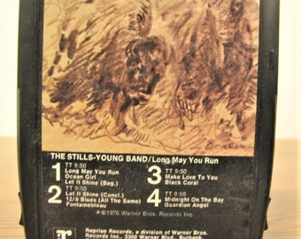 The Stills-Young Band - Long May You Run 8 Track released in 1976 , Vintage Collectable , With FREE Shipping