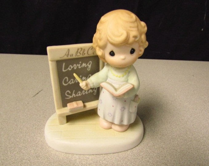 """Precious Moments Figurine """"Teach Us to Love One Another """" Members Only Limited edition, Valuable COLLECTABLE FIGURINE"""