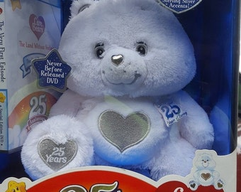 Vintage Care Bear Tenderheart Bear, 25th Anniversary Collector Edition Care Bear, in the original unopened box, Comes with movie, Reduced Sh