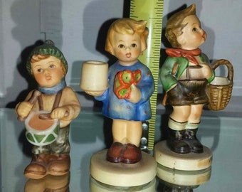Vintage Hummel Figurines, Three Small Vintage Collectables, In Excellent Condition
