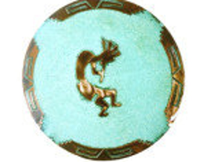 """Kokopelli 14' Medicine Plate , The charming """"Humpbacked Flute Player"""" Symbol, Symbol of Fertility, Unique Collectable, Reduced Ship"""