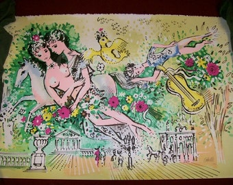 """RARE Charles Cobelle original signed Limited Edition Lithograph """"Horse Rider"""" Price Reduced AND  Free Shipping"""