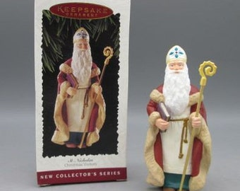 TWO, 1995, Hallmark, St. Nicolas Christmas Visitors, Christmas Ornaments, New in the original box, With Reduced Shipping