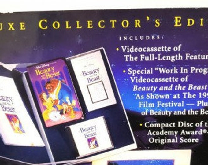 Disney Vintage Collectable Large Gift Set, Rare Disney item, inclues a large Boxed set issued by Disney. Beauty and the Beast Collectable.
