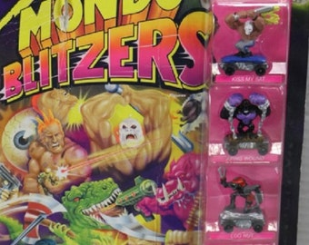 Vintage Kenner 1991 Savage Mondo Blitzers, The Butt Kickers, Toys New in the original unopened package, with Reduced Shipping