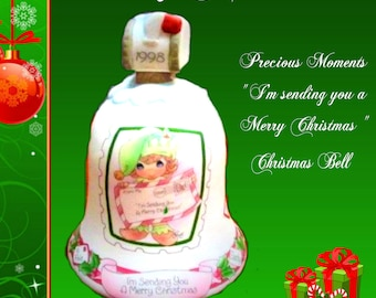 Precious Moments Christmas Bell , Say Merry Christmas with this Vintage Christmas Bell, Comes in the original box, In Excellent Condition