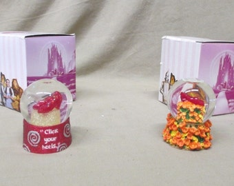 Ruby  Slippers Water Globes, Wizard of Oz Collectables, In the original Boxes, Free Shipping