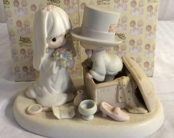 """Wedding Gift, Precious Moments Figurine """"Heaven Bless your togetherness"""" in the original box, Excellent Condition, w/ Reduced Shipping"""