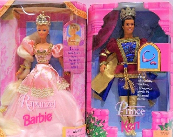 Featured listing image: Barbie Disney Princess Repunzel & The Prince , 1997, CE, by Mattel  New in the original box, In Excellent Condition, Repunzul is 1n top 18