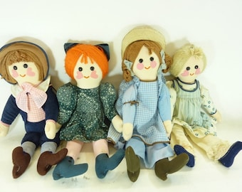 Happening Boutique Dolls, 1976 4 Count Dolls, In Excellent Condition, Free Shipping
