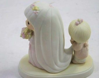 "PRECIOUS MOMENTS Figurine ""God Bless the Bride "" in the original box with Reduced Shipping"
