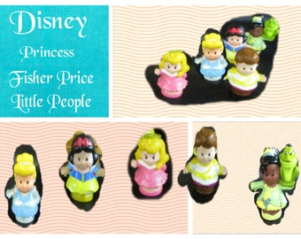 Disney Fisher Price Little People, The princess set, In Excellent condition, Free Shipping