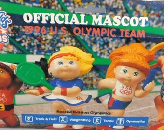 Vintage Cabbage Patch Kids Olympics Official Masgots,  1990s Figurines Mint New Adorable Mini Dolls for Toddlers, With Reduced Shipping