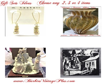 Mothers Day Gift Set Ideas , Vintage Collectable for a gift to Mom , Reduced Shipping