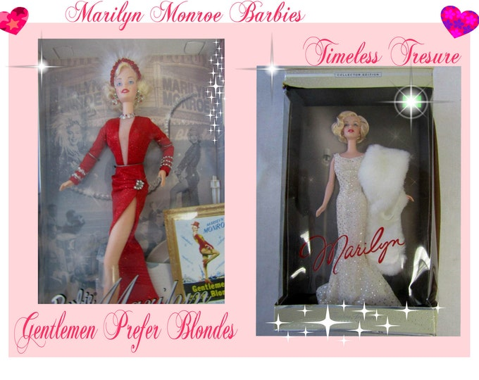 Marilyn Monroe Barbie Set, Two New in Box Collector Edition Barbies,  Hollywood Legends, With Reduced Shipping