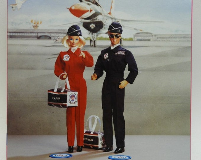 Stars and Stripes Air Force Thunderbirds Barbie and Ken, Limited Edition, Gift Set, 1993, in the original unopened box, with Reduced Shippin
