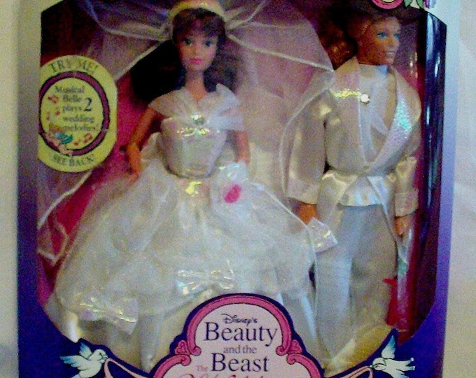 Toys- Belle and the Prince.  DISNEY Mattel Musical Wedding Set. - in the Original Unopened Box- With reduced shipping