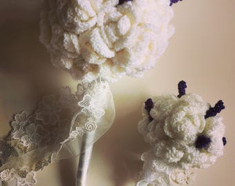 Bride and bridesmaid bouquet package