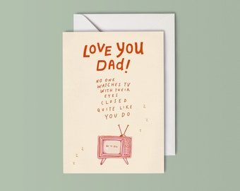 Love You Dad - Father's Day/Dad's Birthday Card